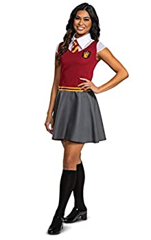 Disguise Women s Collar with Tie Top and Attached Skirt Gryffindor Red & Gray Medium  8-10