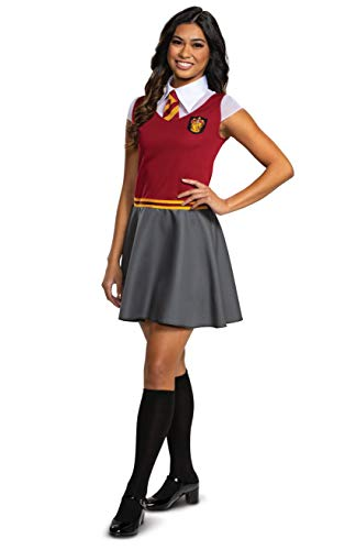 Disguise Harry Potter Dress for Girls, Gryffindor Costume Dress, Red & Gray, Teen Size Junior (7-9)