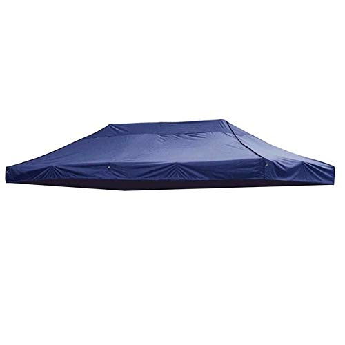 without LSB-CHUNJIE3, 1pc 3x6m Big Size Replacement Oxford Tarp Waterproof Garden Tent Sun Shelter Gazebo Canopy Outdoor Marquee Market Shade Anti UV Tent (Color : Blue)