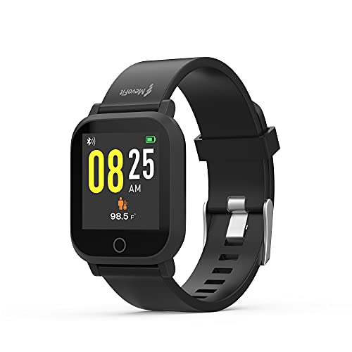 MevoFit AIR X1 - Smart on Health, Light on Hand: Smart Watch & Activity Tracker for Men & Women | Body Temperature Monitoring | Heart Rate Tracker | All Day Activity Tracker (Space Black)