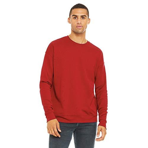 Bella + Canvas Unisex Adult Fleece Drop Shoulder Sweatshirt (XXL) (Brick Red)