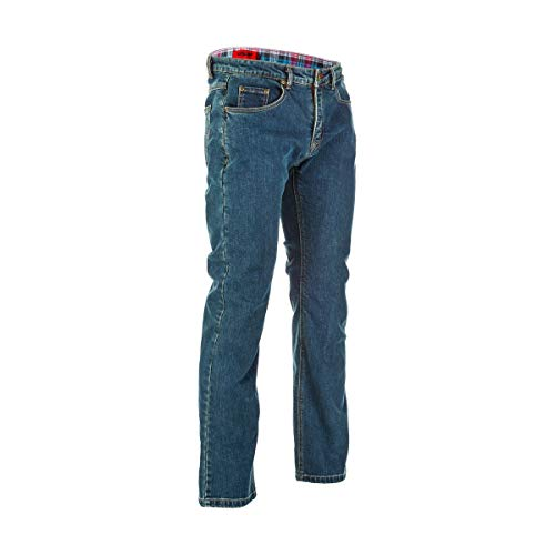 Fly Racing Resistance Heavy Weight Mens Motorcycle Jeans - Oxford Blue - 34