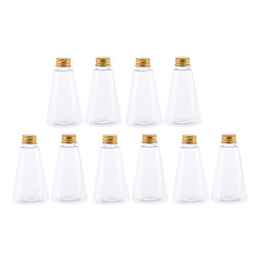kowaku Juego de 10 Botellas de Viaje Cosméticas, Envases Transparentes Rellenables, Vacíos de 90 Ml