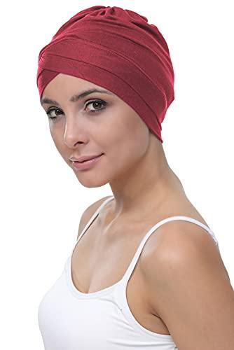 Deresina W Baumwollmütze für Chemo (Burgundy)