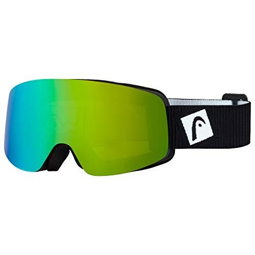 Head Infinity Fire Spiegel voor dames, inclusief reservelenzen, ski/snowboard goggle, blauw/groen, één maat