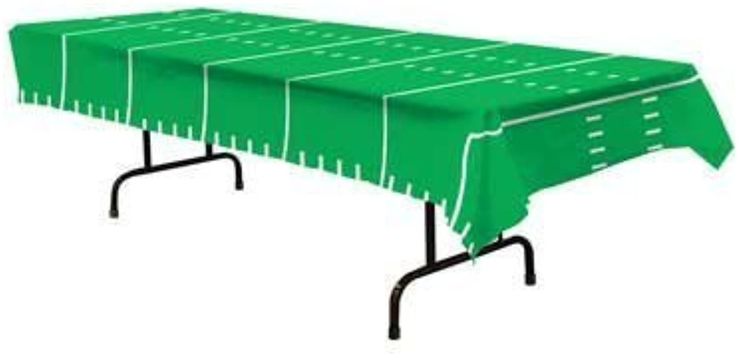 Game Day Football Tablecover 54in. x 108in. Pkg 12 by Beistle