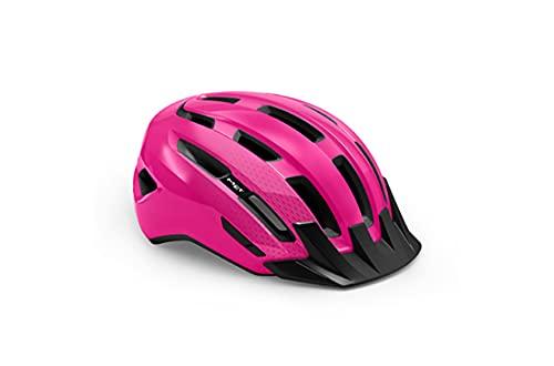 730087var - Casco da bicicletta Downtown colore rosa, taglia 52-58