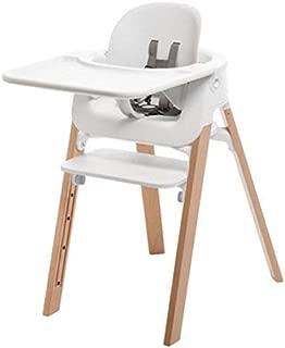 Stokke Steps Bundle, Baby Set, Seat, Tray - White, Legs - Natural