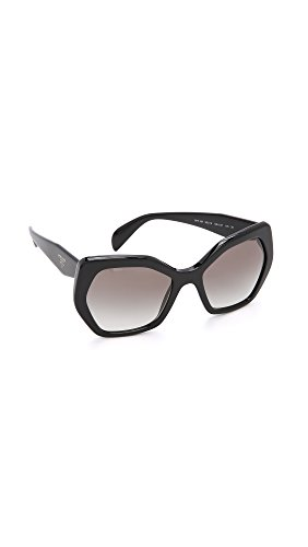 Prada Women's PR 16RS Black/Grey Gradient, 56mm