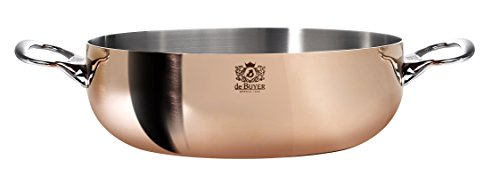 PRIMA MATERA Conical Copper Stainless Steel Saute-Pan 11-Inch with lid