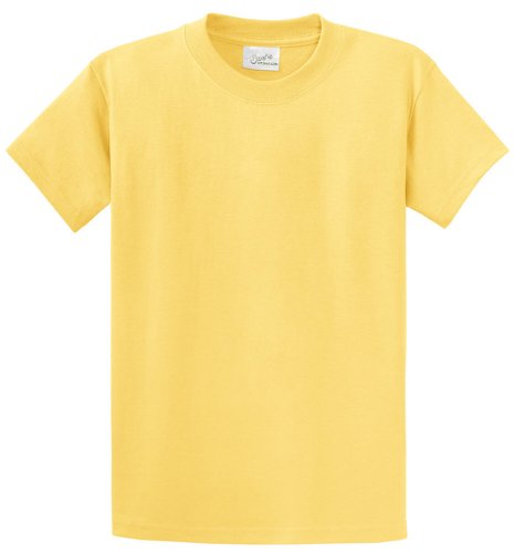 Joe's USA(tm - Youth Heavyweight Cotton Short Sleeve Yellow T-Shirt in Size S