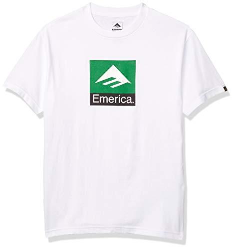 Emerica Men's Classic Combo TEE, White, M