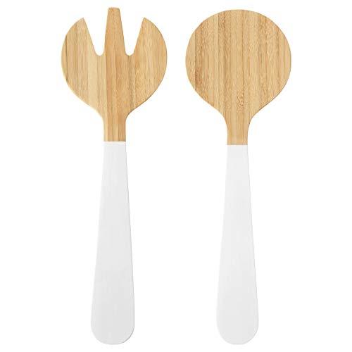 Salatbesteck 2-teilig Bambus weiß 31 cm Produktgröße 31 cm Material: Bambus Öl Farbe