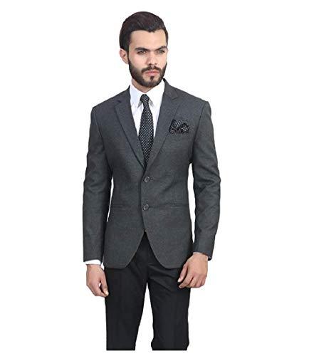 Dhingra Men's Slim Fit Single Breasted Blazer