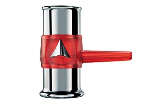Bialetti Napoletana Moka Design de 3 tazas de aluminio pulido rojo