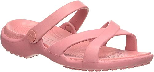 Crocs Meleen Crossband Sandal Women, Sandalias de Punta Descubierta para Mujer