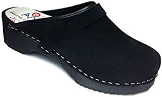 AM-Toffeln 100 Clogs in Black Suede
