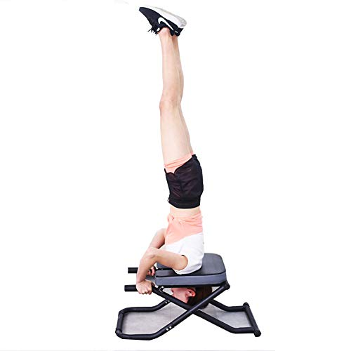 Review LISI Yoga Headstand Bench Stand, Foldable Yoga Inversion Chair Handstand Stool Exercise Pract...