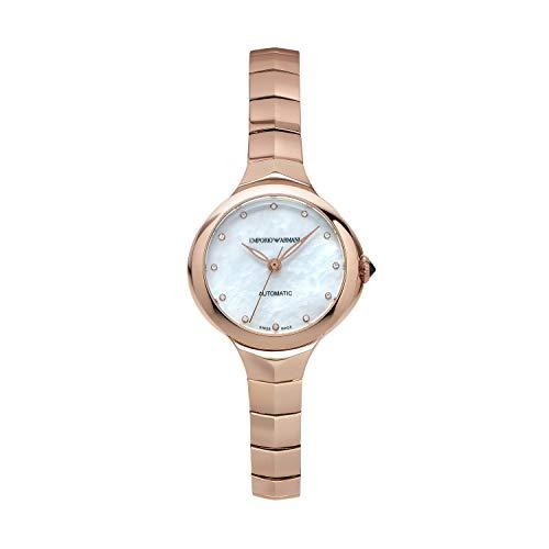Emporio Armani Damen Analog Automatik Uhr mit Edelstahl Armband ARS8251