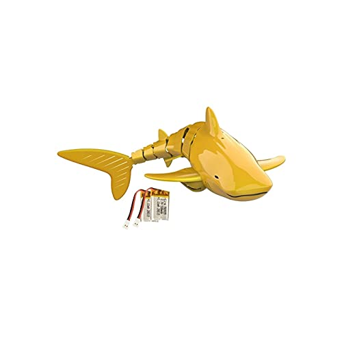 ZNKITES Remote Control Shark Children Model Boat Remote Control Kids Toys RC Golden Shark Vehicle Underwater Children Best Birthday Gift Toys for Adults Kids Gift Sea Swimming Pool