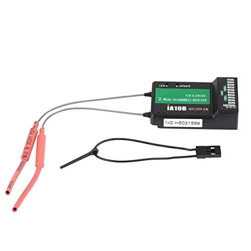 Dilwe RC-Hubschrauber-Empfänger, FS-IA10B 2.4G 10-Kanal-Empfänger-PPM-Ausgang mit iBus-Anschluss für Ersatzteil für RC-Hubschrauber