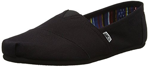 TOMS Classic Black Black Canvas Espadrilles Shoes Slipons-8