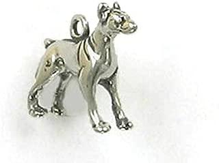 Pendant Jewelry Making/Chain Pendant/Bracelet Pendant Sterling Silver 3-D Doberman Pinscher Charm