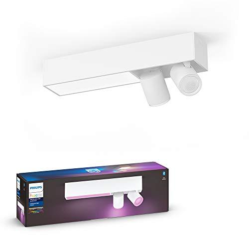 Philips Hue White & Col. Amb. LED 2-er Spotleuchte Centris, weiß, dimmbar, 16 Mio. Farben, steuerbar via App, kompatibel mit Amazon Alexa (Echo, Echo Dot)