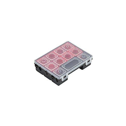 4 Boxen Sortimentskasten Kleinteilemagazin Tandem C Box Kleinteilebox Organizer 180x135x45 mm Deckel herausnehmabar