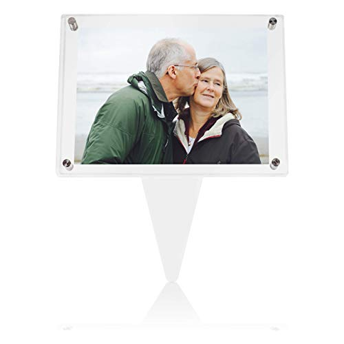 SimpleView 5x7 Waterproof Picture Frame | Memorial Gifts | Cemetery Decorations for Grave | Grave Decorations for Cemetery | Picture Frames | Memorial Day Gift | Sympathy Gift (Clear)