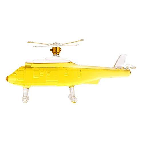Rabbfay Botella de vino de cristal para helicóptero – Decantadores de vino de licor, jarra de respiro de vino con tapa vertedor, vidrio soplado a mano, accesorio de vino de lujo, A