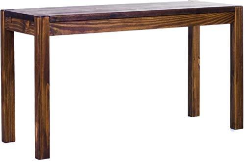 Brasilmöbel Esstisch Rio Kanto 120x73 cm Eiche antik Pinie Massivholz Größe und Farbe wählbar Esszimmertisch Küchentisch Holztisch Echtholz vorgerichtet für Ansteckplatten Tisch ausziehbar