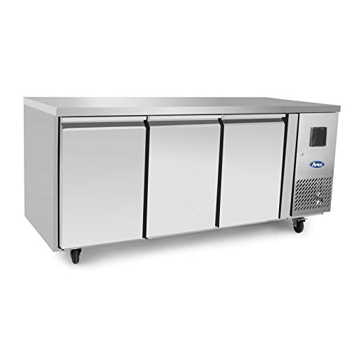 Table Réfrigérée Négative Inox - 3 Portes - 1795 mm - Atosa - 3 Portes 600 Pleine