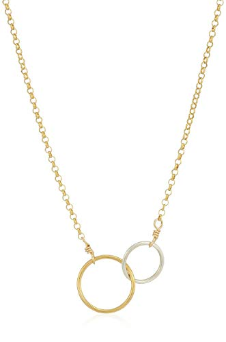 Dogeared Womens Gold Moonstone Cluster Chain Necklace, 16