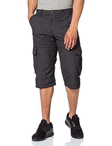 TOM TAILOR Herren 1026235 Max Overknee Cargo Bermuda Shorts, 27217-Black Bean Design, 36