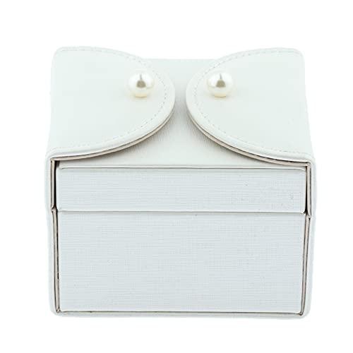 JIEERCUN Caja de Almacenamiento de joyería de Viaje portátil Organizador de joyería Bolsa de Caja for Anillos, Collar, Pendientes, Pulsera, Blanco Cajas de joyería (Color : A)