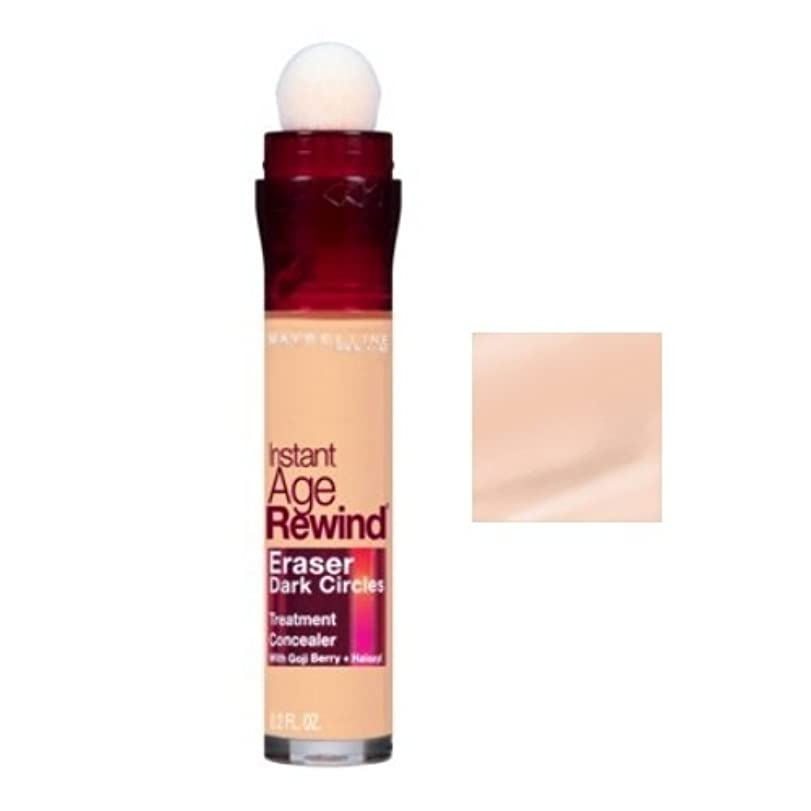 圧倒的健康的巨大MAYBELLINE Instant Age Rewind Eraser Dark Circles + Treatment - Fair (並行輸入品)