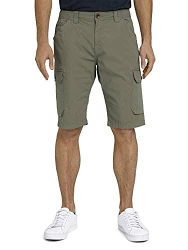 TOM TAILOR Herren 1026090 Josh Slim Cargo Bermuda Shorts, 10905-Tree Moss Green, L