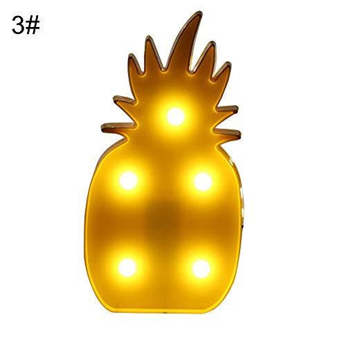 Lampada Da Tavolo Ricaricabile Creativo - Huhuswwbin Cartone Animato LED Home Party Celebration Room Decorazione Comodino Light Night Lamp - Pineapple #