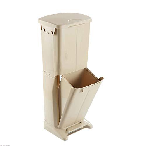 SHUTING2020 Bote Basura Cocina de Doble Capa Clasificación de diseño Vertical Bote de Basura 33 litros /...