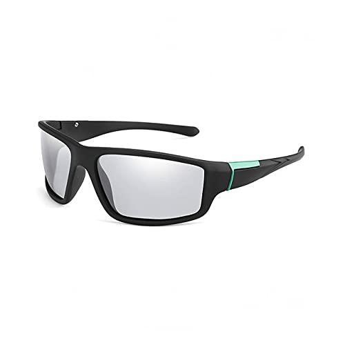 Gafas de Sol Que cambian de Color para Hombre Gafas Deportivas Negras Mate Gafas de Sol polarizadas para Conducir Que cambian de Color para Mujer-Glasses