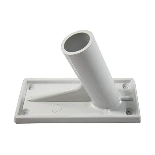 GCDN Fahnenmast-Halterung, verstellbarer Kunststoff-Fahnenmasthalter, Wandmontage, Flaggenhalter, Präsentationsständer, stanzfrei, weiß