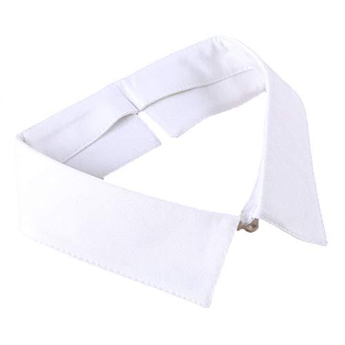Collar falso desmontable para mujer, cuello sintético suave y cómodo con cuentas, decoración de blusa para uso diario, trabajo, escuela, ocasiones formales, color blanco