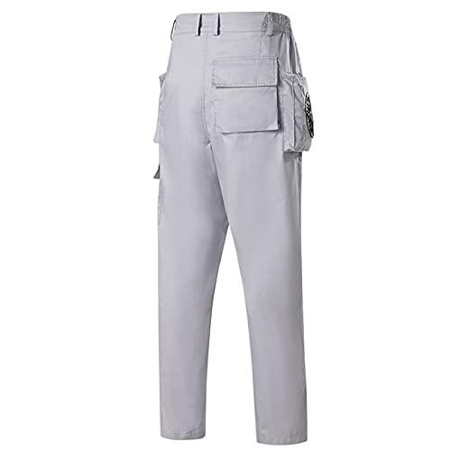 Ventilador Aire Acondicionado Pantalones Reflectante Algodón Retirable Adultos,B1,3XL
