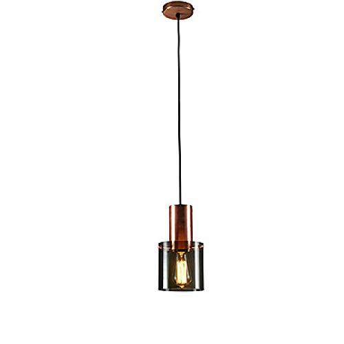 Zyqcam® Cylinder Pendelleuchte Ambient Light Galvanisiertes Metall 110-120V / 220-240V-110-120V_Red_Bronzer
