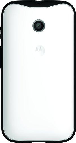 Motorola Grip Shell TPU-Cover für Moto E Smartphone weiß/schwarz