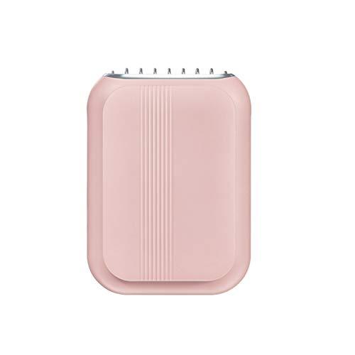 KKmoon Ventilador de Cuello,Ventilador Recargable USB de 3 Velocidades, Silencioso y Duradero para Oficina, Hogar, Viajes al Aire Libre(rosa)