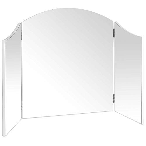 "Beautify Large Trifold Hollywood Vanity Mirror with Folding Tabletop Hinged Design W41"" X H23.6"""
