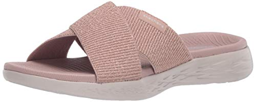 Skechers Damen On-The-go 600 Sandalen, Pink (Rose Gold Textile Rsegld), 38 EU