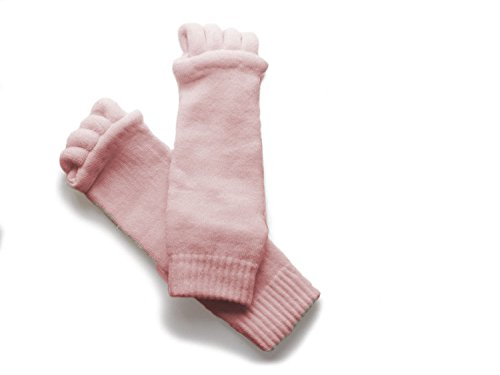 Natural Home Damen Zehenspreizer Wellness Socken Zehentrenner Pediküre Fuß Massage Socken (Hell Rosa)